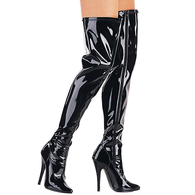 DOMINA-3000 botas altas largas negro talla 39 - 40
