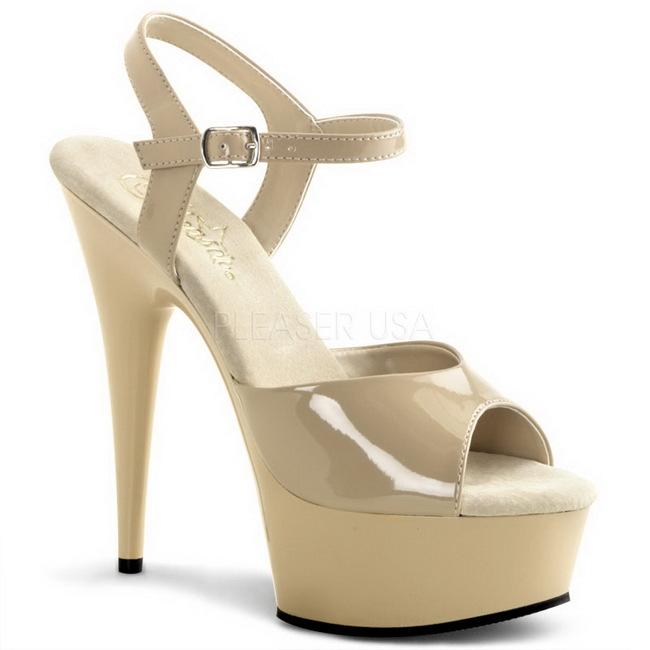 DELIGHT-609 high heels pleaser beige talla 39 - 40