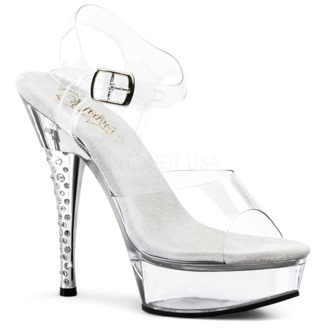 DIAMOND-608 high heels pleaser transparent talla 35 - 36