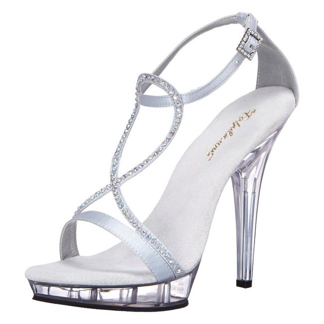 LIP-156 zapatos high heels plata talla 37 - 38