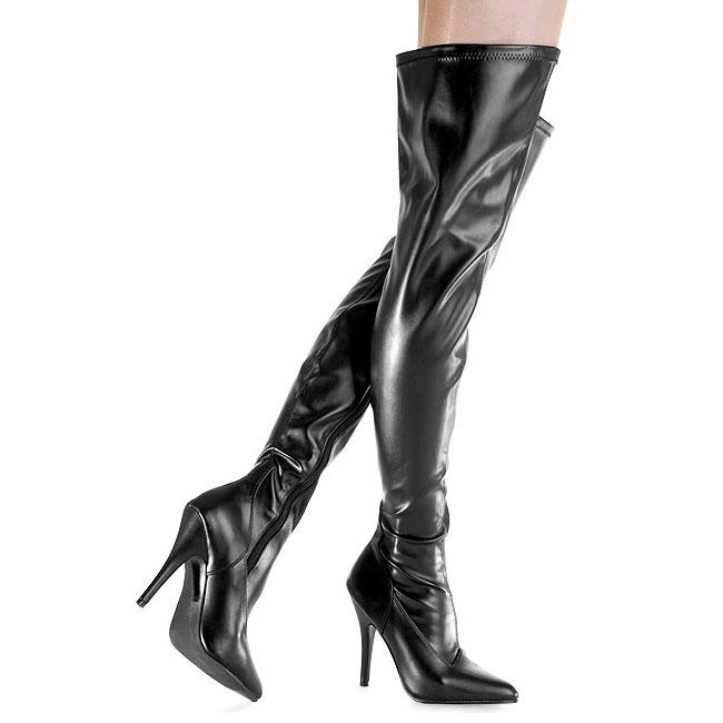 SEDUCE-3000 botas altas para hombres negro talla 40 - 41