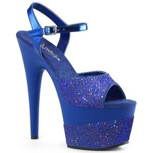 Azul 18 cm ADORE-709-2G brillo plataforma sandalias de tacón alto