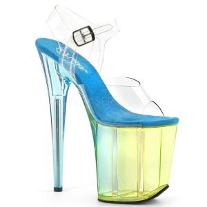 Azul 20 cm FLAMINGO-808MCT sandalias de pole dance