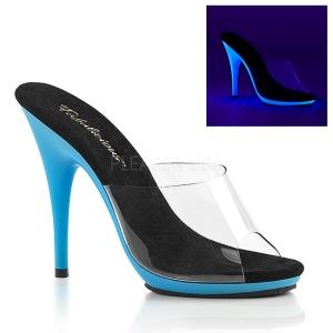 Azul Neon 13 cm POISE-501UV Plataforma Mules Calzado
