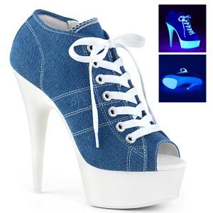 Azul Neon 15 cm DELIGHT-600SK-01 Zapatos de lona con tacón