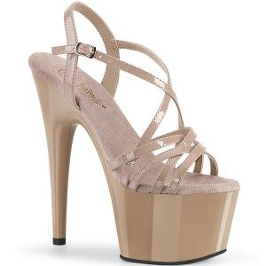 Beige 18 cm ADORE-713 pleaser sandalias de tacón aguja