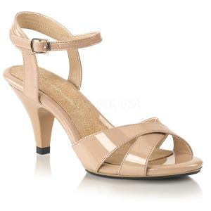 Beige 8 cm BELLE-315 Zapatos para travestis