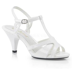 Blanco 8 cm Fabulicious BELLE-322 sandalias de tacón bajo