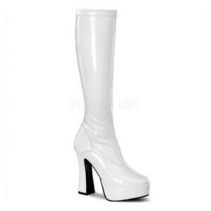 Blanco Charol 13 cm ELECTRA-2000Z Botas de mujer para Hombres