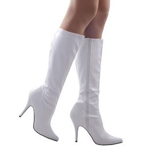 Blanco Lacado 13 cm SEDUCE-2000 Botas de mujer con tacones altos