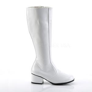Blanco Lacado 5 cm FUNTASMA GOGO Botas Media Mujer