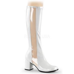 Blanco Lacado 8,5 cm Funtasma GOGO-303 Botas Media Mujer