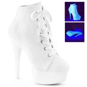 Blanco Neon 15 cm DELIGHT-600SK-02 Zapatos de lona con tacón