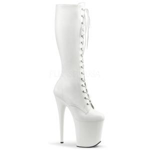 Blanco Polipiel 20 cm FLAMINGO-2023 plataforma botas de mujer con cordones
