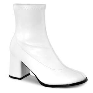 Blanco Polipiel 7,5 cm GOGO-150 botines mujer tacón ancho stretch
