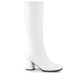 Blanco Vegano 7,5 cm GOGO-300-2 botas con tacón bloque