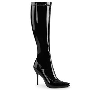 Botas de charol 13 cm AMUSE-20 botas tacón de aguja puntiagudos