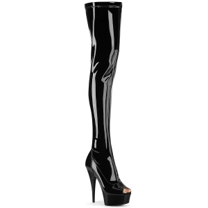 Charol 15 cm DELIGHT-3011 botas altas pleaser
