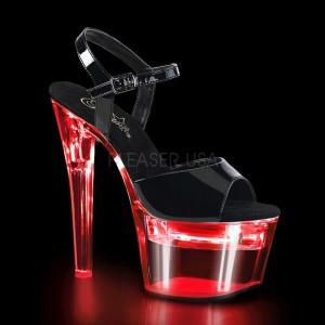 Charol 18 cm FLASHDANCE-709 sandalias stripper con luz LED