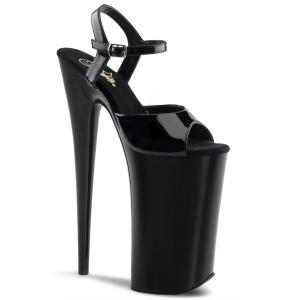 Charol 25,5 cm BEYOND-009 zapatos de plataforma extremos - tacones extremos
