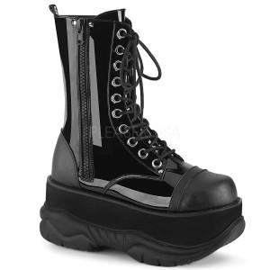 Charol 7,5 cm NEPTUNE-200 botinhas demonia - botinhas plataforma unisex
