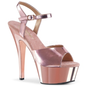 Cobre 15 cm KISS-209 Zapatos Tacón Aguja Plataforma