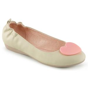 Crema OLIVE-05 bailarinas zapatos planos mujer
