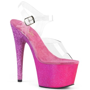 Fucsia purpurina 18 cm Pleaser ADORE-708OMBRE Zapatos con tacones pole dance