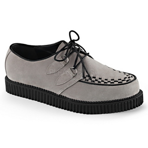 Gris Gamuza 2,5 cm CREEPER-602S Zapatos Creepers Hombres