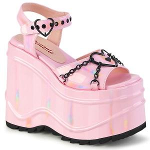 Holograma 15 cm Demonia WAVE-09 lolita zapatos sandalias con cuña alta plataforma
