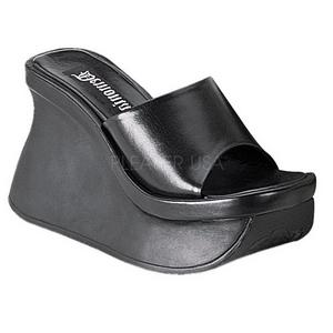 Negro 11,5 cm PACE-01 Góticos Chanclas Mujer Plataforma