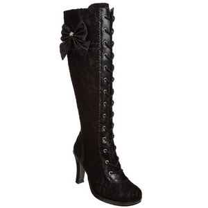 Negro 9,5 cm GLAM-240 botas de mujer tacón altos