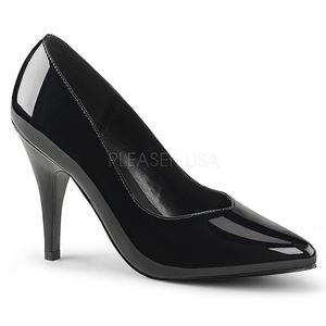 Negro Charol 10 cm DREAM-420 Calzado de Salón Planos Tacón