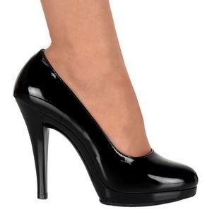 Negro Charol 11,5 cm FLAIR-480 zapatos de salón para hombre