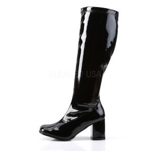 Negro Charol 7,5 cm GOGO-300WC botas de mujer de caña ancha