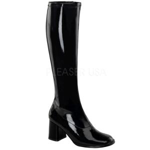 Negro Lacado 7,5 cm Funtasma GOGO-300 Botas Media Mujer