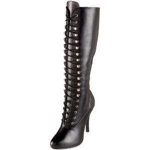 Negro Mate 12 cm ARENA-2020 Botas de Cordones Mujer