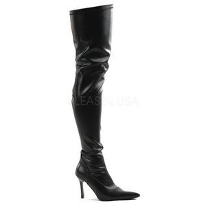 Negro Mate 9,5 cm LUST-3000 over knee botas altas con tacón