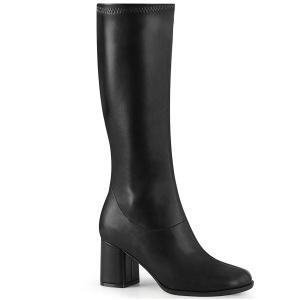 Negro Vegano 7,5 cm GOGO-300-2 botas con tacón bloque