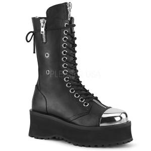 Negro Vegano 7 cm GRAVEDIGGER-14 botas demonia - botas plataforma unisex