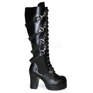 Negros 9,5 cm GOTHIKA-209 lolita botas góticos botas con suela gruesa