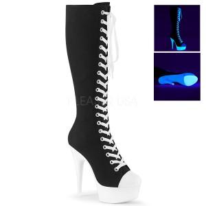 Neon 15 cm DELIGHT-2000SK botas de lona con tacón