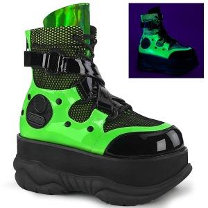 Neon 7,5 cm NEPTUNE-126 botines demonia - botines de cyberpunk unisex