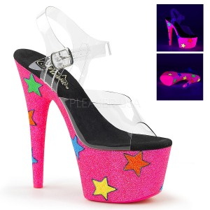 Neon purpurina 18 cm Pleaser ADORE-708STR Zapatos con tacones pole dance