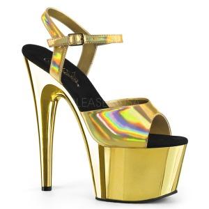 Oro 18 cm ADORE-709HGCH Holograma plataforma sandalias de tacón alto
