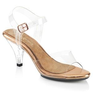 Oro 8 cm BELLE-308 sandalias de tacón alto