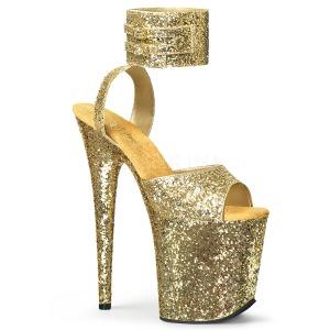 Oro Brillo 20 cm Pleaser FLAMINGO-891LG Tacones Altos Plataforma