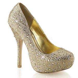 Oro Piedras Brillantes 13,5 cm FELICITY-20 Zapatos de tacón altos mujer