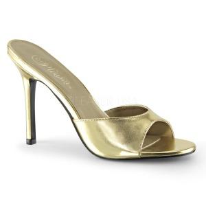 Oro Polipiel 10 cm CLASSIQUE-01 zapatos de zuecos tallas grandes