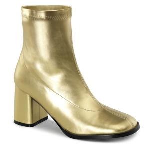 Oro Polipiel 7,5 cm GOGO-150 botines mujer tacón ancho stretch